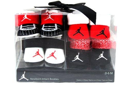 Nike Air Jordan 4 Pairs Newborn Infant Baby Booties Socks w/Air Jordan Logo Size 0-6 Months