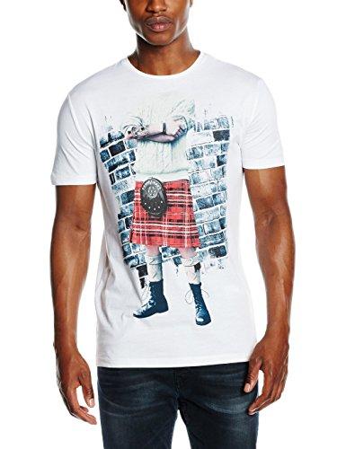 Antony Morato T Shirt Girocollo Stampa Kilt, Maglietta da Uomo, Bianco, L