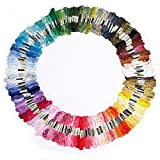 LIFECART 150 Skeins Assorted Coloured Cotton Thread Embroidery Thread