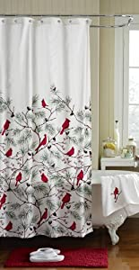 Cardinal Holiday Shower Curtain Home Kitchen