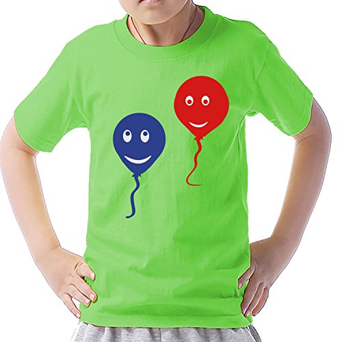 Unbranded products balloon smiley short sleeve anime T shirt M light green