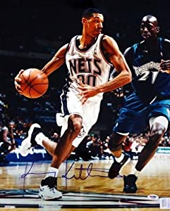 Kerry Kittles Autographed Hand Signed 16x20 Photo Nets PSA DNA #T14432 by Hall of Fame Memorabilia