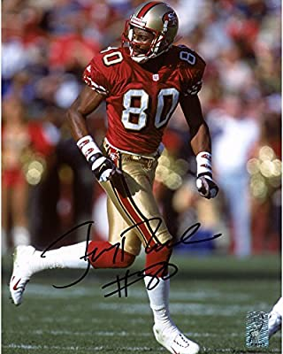 "Jerry Rice San Francisco 49ers Autographed 8"" x 10"" Red Running Solo Photograph - Fanatics Authentic Certified"