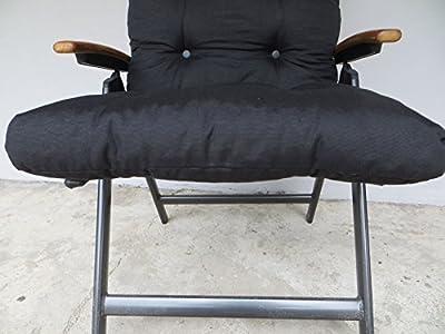13 cm Luxus Hochlehner Flocken Auflage von Dacore 8714-2703 in uni schwarz von Dacore bei Gartenmöbel von Du und Dein Garten