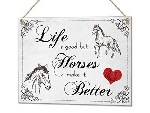 life-is-good-horses-make-it-better-vintage-horse-lover-gift-metal-plaque-sign-wall-art