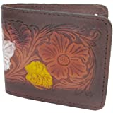 Biker / Trucker Cowhide Leather Bifold Men's Wallet