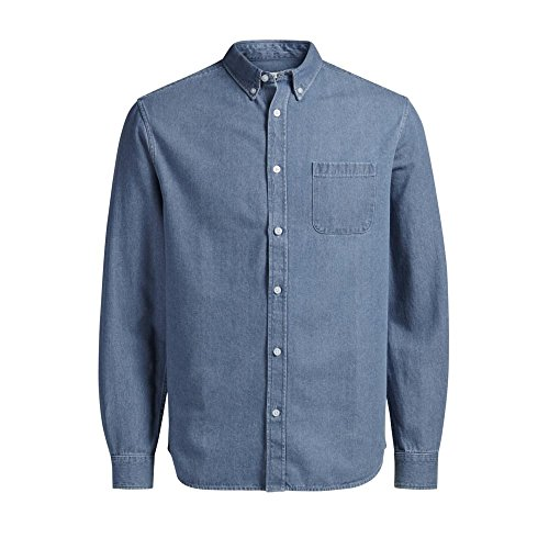 Jack & Jones da uomo nuovo Casual Designer Denim Shirt Mid Sneaker Medium blue Medium