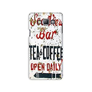 Mikzy Tea And Coffe Pattern Printed Designer Back Cover Case for Samsung A7 (Multicolour)