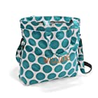 Thirty One Retro Metro Fold-Over in Teal Mod Dot - No Monogram - 4236