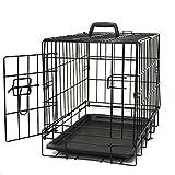OxGord 20' Small Dog Crate, Single-Door Folding Metal w/ Tray   20' x 13' x...
