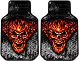 51ybi8xhfvL. SL160  Raging Inferno Skull Flames Smoke Car Truck SUV Floor Mats Pair