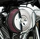 Arlen Ness Team-Ness 'Big Sucker' Stage 1 Air Filter Kit for 2000-2011 Harley Davidson Big Twin - Color : Satin Chrome - Size : Red Filter Material