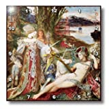 dpp_129821_1 BLN Horses Fine Art Collection - The Unicorns by Gustave Moreau - Wall Clocks - 10x10 W