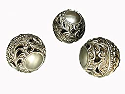 D\'Lusso Designs Home Decor Accent Lucrezia Collection Three Piece Orbs Set