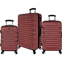 Elite Luggage 3 Piece Hardside Spinner Luggage Set (Multiple Colors)