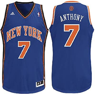 NBA New York Knicks Carmelo Anthony Replica Road Youth Jersey, Royal, Large