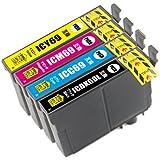 IC4CL69  EPSON(エプソン)対応・互換インクカートリッジ ICチップ付き 4色セット ブラック増量タイプ 残量表示可能