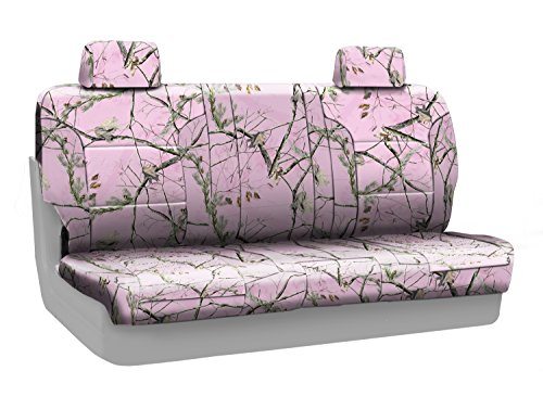 Coverking Rear Folding Bench Custom Fit Seat Cover for Select Honda Accord Models - NeoSupreme Camo Real Tree (AP Pink Solid) (Honda Accord Seat Covers Camo compare prices)