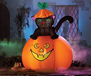 Casper Cat Halloween Lighted Outdoor Inflatable from Collections Etc