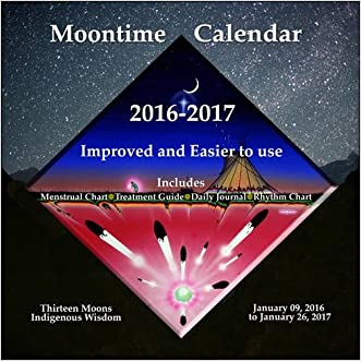 "Moontime Calendar 2016-2017 (Menstrual Chart, Treatment Guide and Daily Journal) 8""x8""vertical wall"