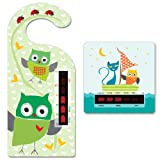 Baby Owl Room Thermometer Hanger and Owl and the pussycat Bath Thermometer With New Moving Line Technology