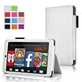 Fire HD 7 Case - Exact Amazon Kindle Fire HD 7 4th Gen Case [PRO Series] - Premium PU Leather Folio Case for Amazon Kindle Fire HD 7 4th Generation (2014) White