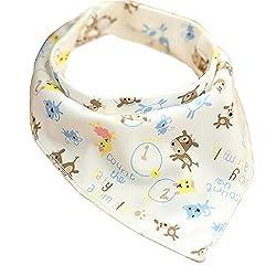 GOGO Cotton Bandana Bib For Toddler, Baby Snap Bib, One Piece