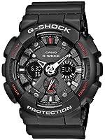 Casio - GA-120-1AER - G-Shock - Montre Homme - Quartz Analogique - Digital - Cadran Noir - Bracelet Résine Noir