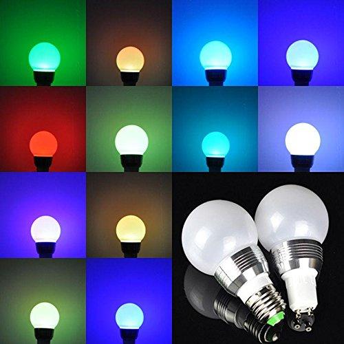 1 piššces RGB 3W E27 LED ampoule lumiššre coloršŠe, distance contral lampe ršŠglable