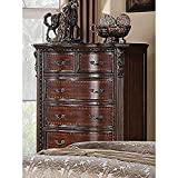 Coaster Home Furnishings 202265 Maddison Six-Drawer Chest, 42 W x 20 D x 54 H, Cappuccino (Color: Cappuccino, Tamaño: 42 W x 20 D x 54 H)