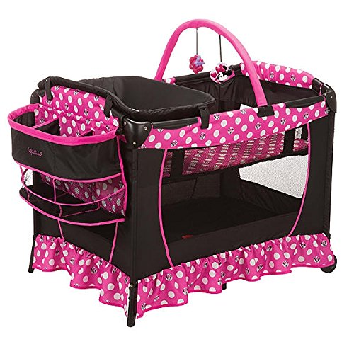 Minnie Mouse Play Yard Bassinet Playpen Crib Diaper Changer petite bassinet