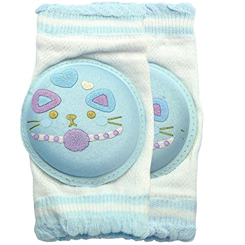 New Kid Baby Mesh Crawling Anti-slip Knee Pads Toddler Elbow Pads 805701 Blue