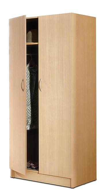 Nexera 564 2-Door Wardrobe, Natural Maple Finish