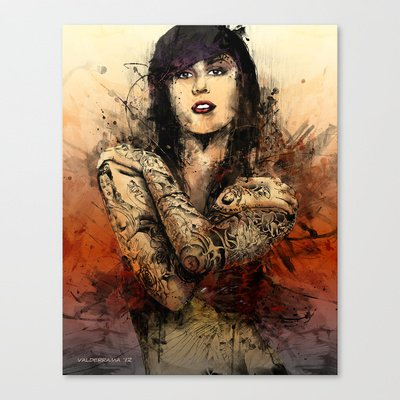 Society6 - Kat Von D Stretched Canvas By Fresh Doodle - Jp Valderrama