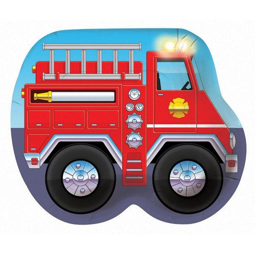 Creative Converting-Firefighter Party Plates/Square (Lunch) - 1