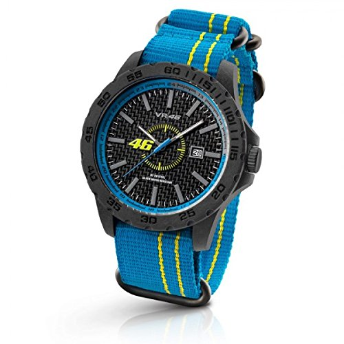 vr46 valentino rossi vr12 by tw steel watch 45mm blue gelb. Black Bedroom Furniture Sets. Home Design Ideas