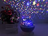 IREALIST 4 LED Night Lighting Lamp Romantic Rotating star projector lamp for Christmas, Rotation Night Projection for Children Kids Bedroom (Pink)