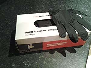 DISPOSABLE VINYL GLOVES. POWDER FREE. PACK 100. FOOD, CLEANING. SIZE MEDIUM