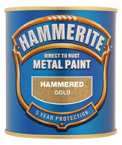 hammerite-5084818-metal-paint-hammered-gold-250ml