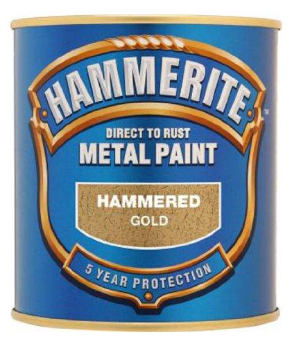 Hammerite 5084818 Metal Paint: Hammered Gold 250ml