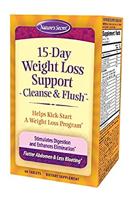 Nature's Secret 15-Day Weight Loss Support Cleanse & Flush 60 Count