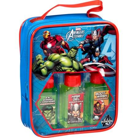 Marvel Avengers Assemble Travel Bath Gift Set 4 Pc
