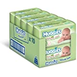 Huggies Natural Care Baby Wipes - 10 x packs of 64 (640 Wipes)