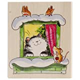 Penny Black Christmas at My Window Wood-Mounted Stamps