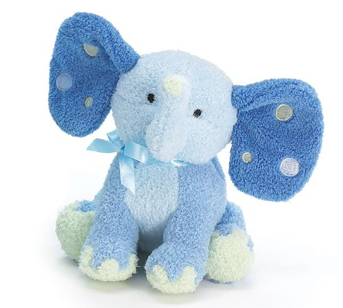 "Patrick Plush Elephant Rattle Blue 5-1/2"""