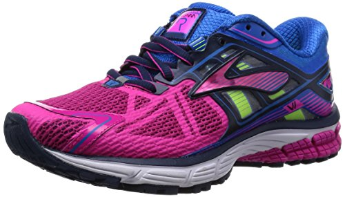 de80405a41b Brooks Womens Ravenna 6 Mesh Running Shoes (Pink Glow Electric Blue Lemonade