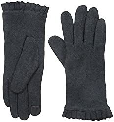 Gloves International Women's Wool Blend Gloves, Charcoal, Large