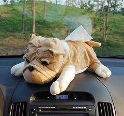 Cute Sharpei Dog Plush Tissue Box Cover Holder Sharpei Dog Holder