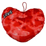 Style Addict Soft Printed Plush Heart No.3 Soft Toy, Red