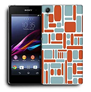 Snoogg Mixed Color Pattern Printed Protective Phone Back Case Cover For Sony Xperia Z3